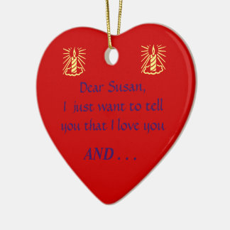 PERSONALIZED /CUSTOMIZED CHRISTMAS PROPOSAL ORMANM CERAMIC ORNAMENT