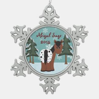 Personalized Cute Appaloosa Horse Ornament