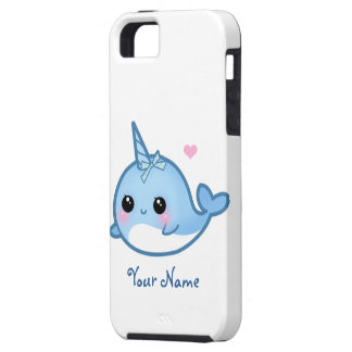 Personalized Cute baby narwhal Case For The iPhone 5