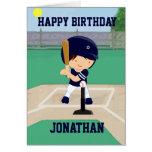 Personalized Cute Baseball cartoon player