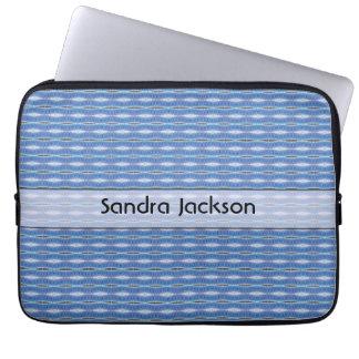Personalized cute blue pattern laptop sleeve