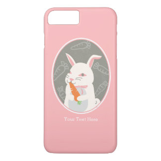 Personalized Cute Bunny Rabbit Pink iPhone 7 Plus Case