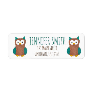 Personalized Cute Cartoon Owl Bird Address Labels