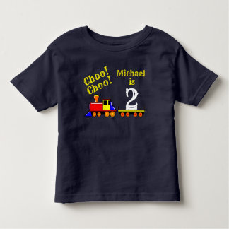 Personalized Cute Choo Choo Birthday Train Toddler T-shirt