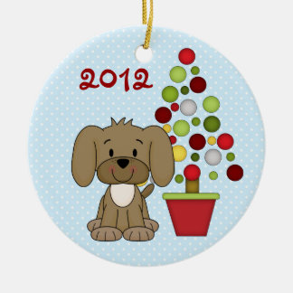 Personalized Cute Christmas Dog Ornament