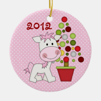 Personalized Cute Christmas Horse Ornament