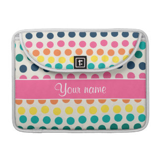 Personalized Cute Colorful Polka Dots Sleeves For MacBooks