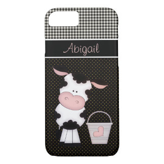Personalized Cute Cow iPhone 7 Case