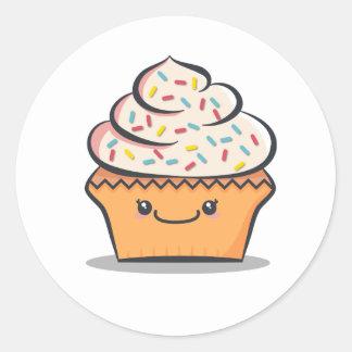 Personalized Cute Cupcake Sticker