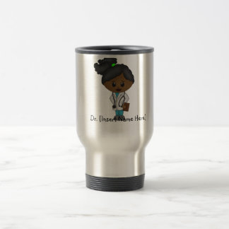 Personalized Cute Doctor Mug - Black Female