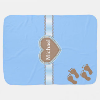Personalized Cute Elegant Boys Baby Blanket Gift