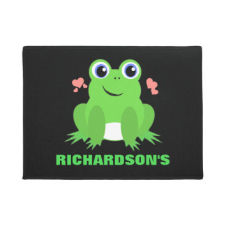 Personalized Cute Frog Doormat
