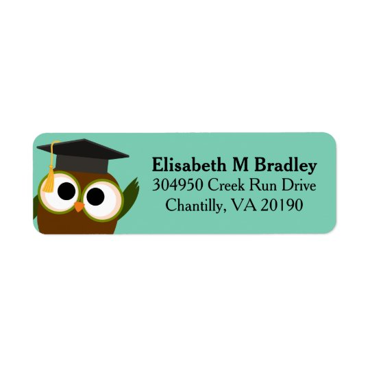 Personalized Cute Graduation Owl