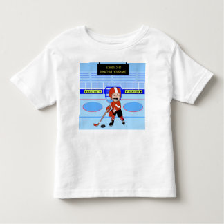 Personalized Cute Ice Hockey star Toddler T-shirt