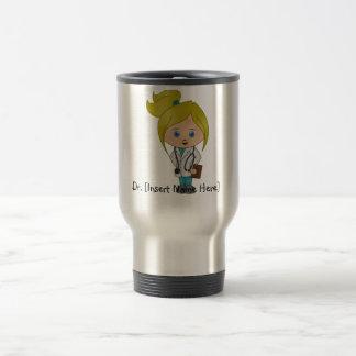 Personalized Cute Lady Doctor Mug - Blonde