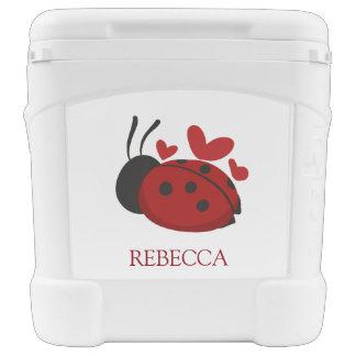 personalized cute ladybug cooler