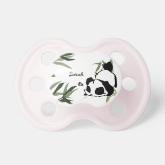 Personalized Cute Panda Pacifiers