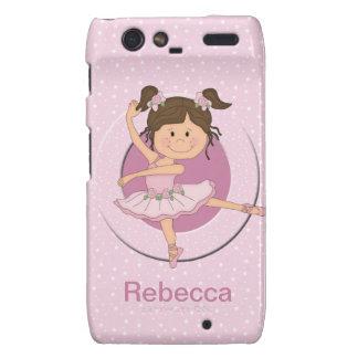 Personalized Cute Pink Ballerina 1 Droid RAZR Cases