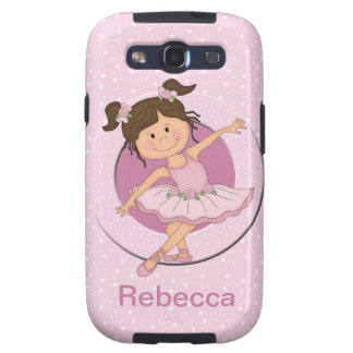Personalized Cute Pink Ballerina 2 Ballet Star Galaxy SIII Cases