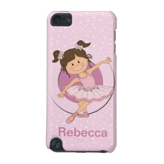 Personalized Cute Pink Ballerina 2 Ballet Star iPod Touch 5G Cover