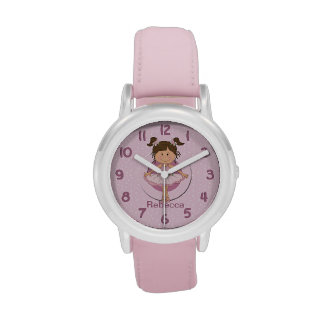 Personalized Cute Pink Ballerina Wrist Watches