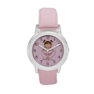 Personalized Cute Pink Ballerina Wristwatch