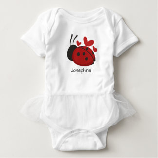 Personalized Cute Red LadyBug Baby Bodysuit