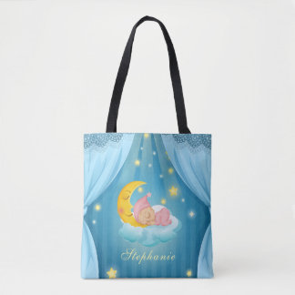 Personalized Cute Sleeping Baby | Tote Bag