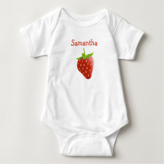 Personalized Cute Strawberry One Piece Baby Tee