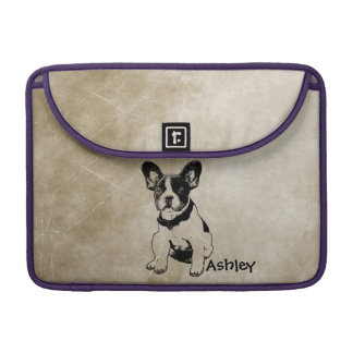 Personalized Cute Sweet French Bulldog Puppy MacBook Pro Sleeves