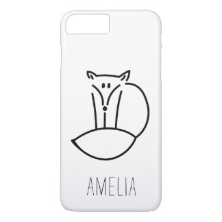 Personalized Cute Woodland Fox iPhone 8 Plus/7 Plus Case