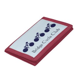 Personalized Cycling or biking  Club Trifold Wallet