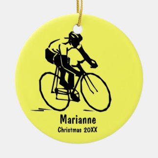 Personalized Cyclist Ornament