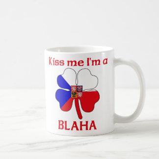 Personalized Czech Kiss Me I'm Blaha Coffee Mug