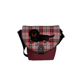 Personalized Dachshund Long Haired Black and Tan Commuter Bags