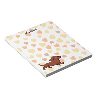 Personalized Dachshund Running Cartoon Notepad