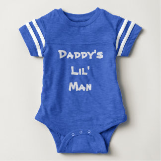 Personalized Daddy's Lil Man Baby outfit Baby Bodysuit