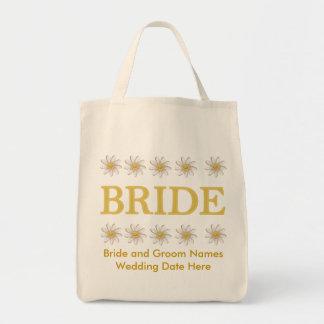 Personalized Daisy Bride Tote Bag