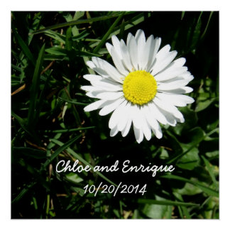 Personalized Daisy Wedding Perfect Poster