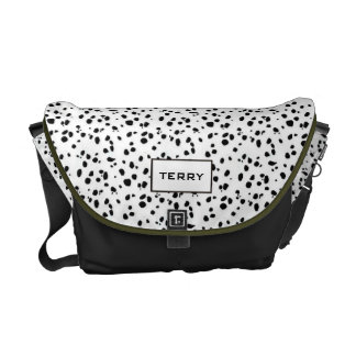 Personalized Dalmation dog theme Messenger Bag