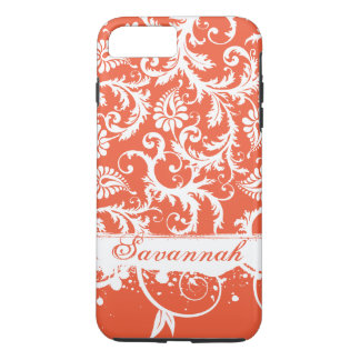 Personalized Damask iPhone Case-You Choose Color iPhone 7 Plus Case