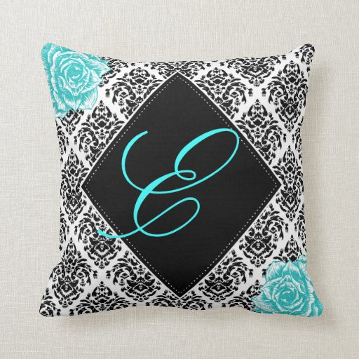 Personalized Damask Nursery Accent Pillow Zazzle