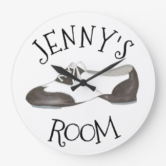 Personalized Dance Shoe Tap Dancer Tapper Gift Large Clock