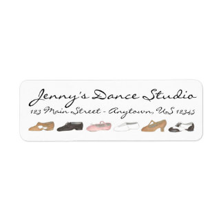 Personalized Dance Shoes Teacher Studio Labels
