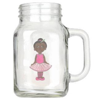 Personalized Dance Teacher Ballet Ballerina Pink Mason Jar