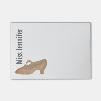 Personalized Dance Teacher Character Shoe Post-It Post-it Notes