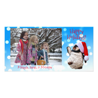 Personalized Dancing Penguin Christmas Card