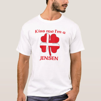 Personalized Danish Kiss Me I'm Jensen T-Shirt