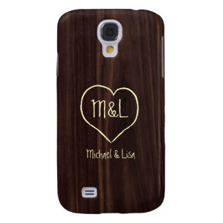 Personalized Dark Chocolate Wood Grain Texture
