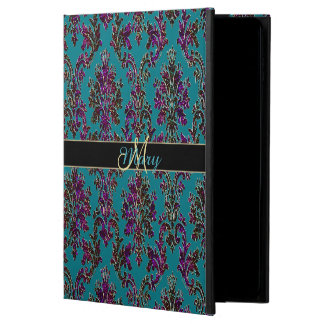 Personalized Dark Damask Colourful iPad Air 2 Case